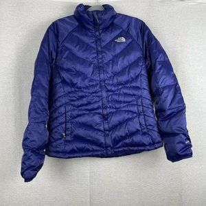 The North Face 550 Blue Quilted Puffer Jacket